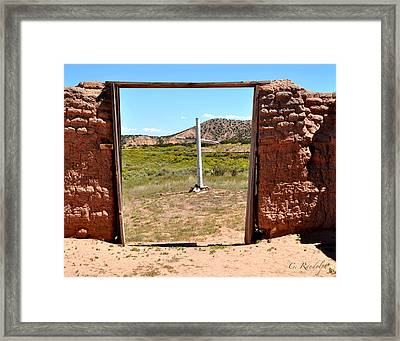 The Old Rugged Cross Framed Print by Cheri Randolph