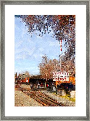 The Old Sacramento Central Train Depot . 7d11527 Framed Print by Wingsdomain Art and Photography
