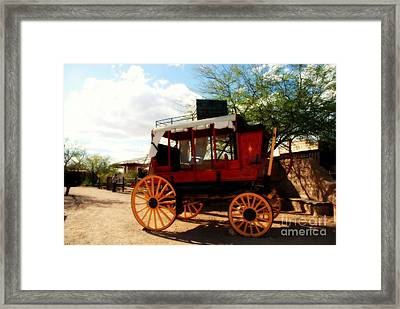 The Old Stage Coach Framed Print by Susanne Van Hulst