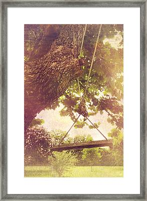 The Old Swing Framed Print by Susan Bordelon