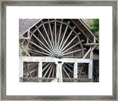 The Old Waterwheel Framed Print by April Wietrecki Green