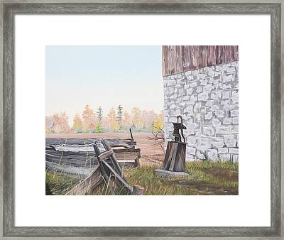 The Old Well Framed Print by Don  Goetze
