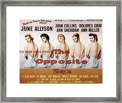 The Opposite Sex, June Allyson, Joan Framed Print by Everett