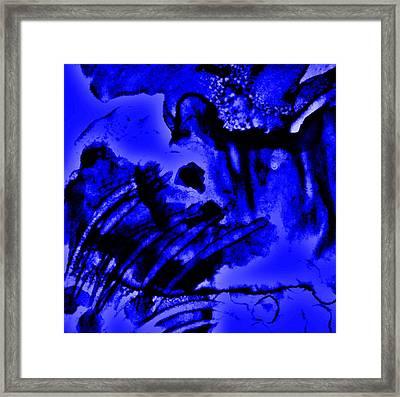 The Origins Of Blue Framed Print by Rory Sagner