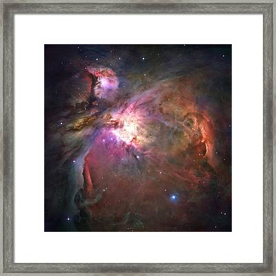 The Orion Nebula Was Born In Enormous Framed Print by Nasa