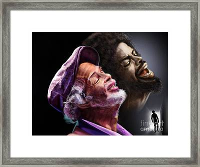 The Other Side-gil Scott Finally Going Home Framed Print by Reggie Duffie
