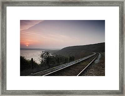 The Other Side Of The Tracks Framed Print by Kieran Brimson