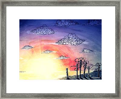 The Pain Of Sky That Will Never Be Calm Framed Print by Paulo Zerbato