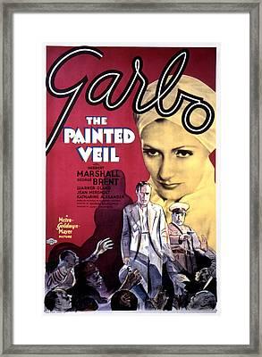 The Painted Veil, Greta Garbo, 1934 Framed Print by Everett