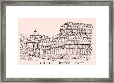 The Palm House In Pink Framed Print by Building  Art