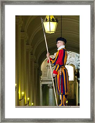 The Papal Swiss Guard Framed Print by Jon Berghoff