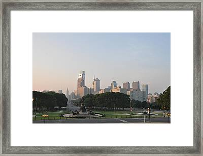 The Parkway And Center City Philadelphia Framed Print by Bill Cannon