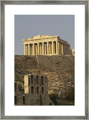 The Parthenon On The Acropolis Framed Print by Richard Nowitz