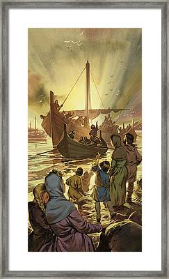 The Parting Framed Print by Angus McBride