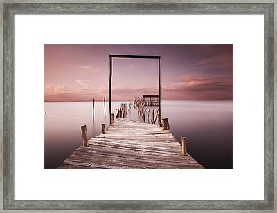 The Passage To Brightness Framed Print by Jorge Maia