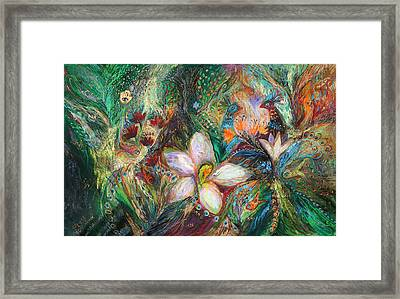 The Passion Of Green Framed Print by Elena Kotliarker