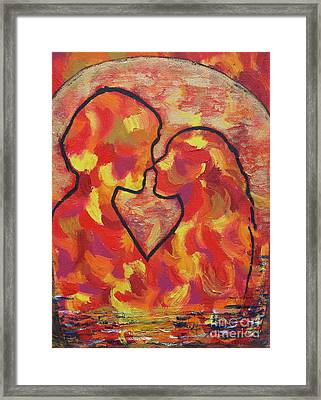 The Passion Of Romance Framed Print by Evolve And Express