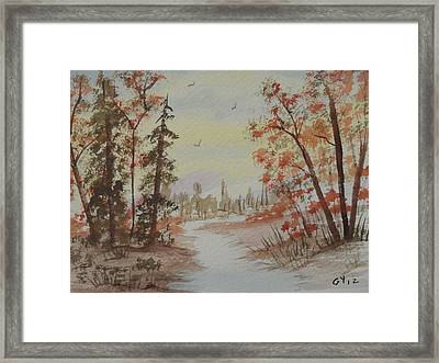 The Pathway Framed Print by Ginny Youngblood