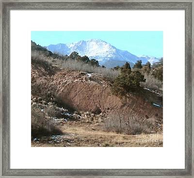 The Peak Framed Print by Cristophers Dream Artistry