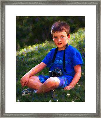 The Photographer Framed Print by Suni Roveto