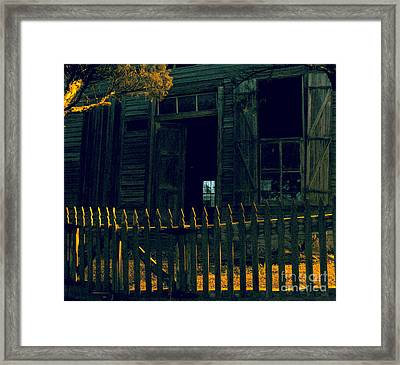 The Picket Boundary Framed Print by Joe Jake Pratt