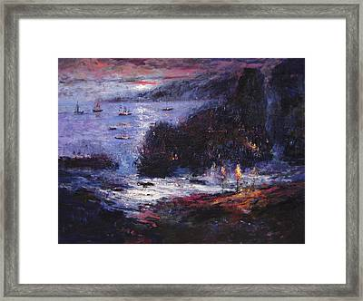The Pirates Make Home Port Framed Print by R W Goetting