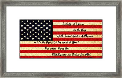 The Pledge Of Allegiance Framed Print by Bill Cannon