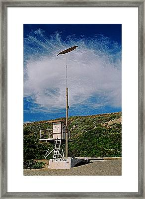 The Point Framed Print by Ron Regalado