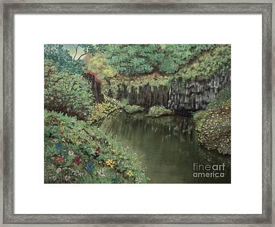 The Pond Framed Print by Jim Barber Hove