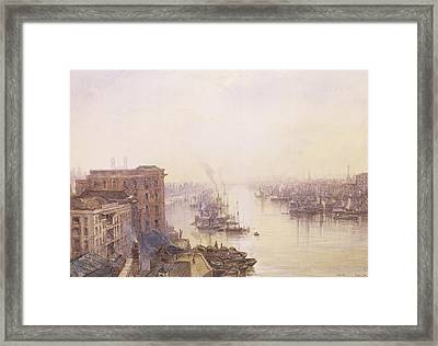 The Pool From The Adelaide Hotel London Bridge Framed Print by William Wyld
