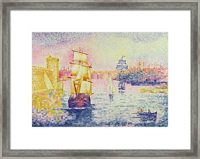 The Port Of Marseilles Framed Print by Henri-Edmond Cross
