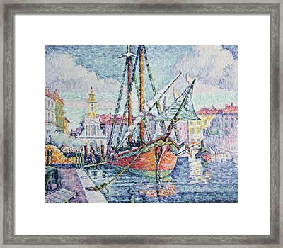 The Port Framed Print by Paul Signac