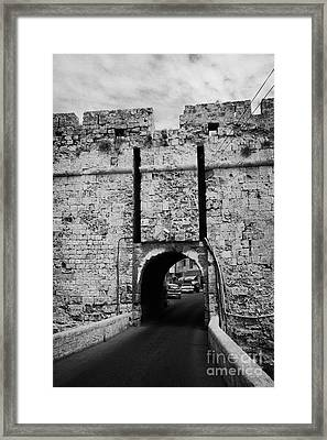 The Porta Di Limisso The Old Land Limassol Gate In The Old City Walls Famagusta Cyprus Framed Print by Joe Fox
