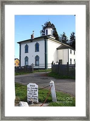 The Potter School House . Bodega Bay . Town Of Bodega . California . 7d12473 Framed Print by Wingsdomain Art and Photography