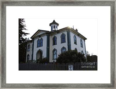 The Potter School House . Bodega Bay . Town Of Bodega . California . 7d12477 Framed Print by Wingsdomain Art and Photography