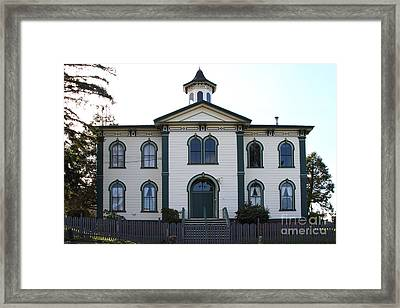 The Potter School House . Bodega Bay . Town Of Bodega . California . 7d12487 Framed Print by Wingsdomain Art and Photography