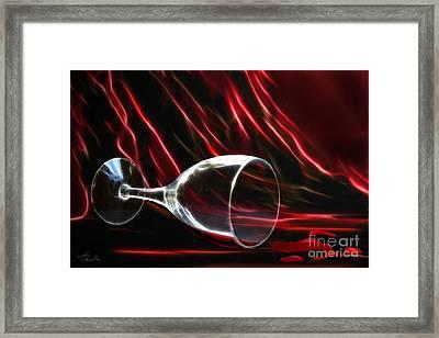 The Power Of Red Framed Print by Danuta Bennett