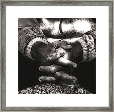 The Prayer Framed Print by Kenneth Mucke