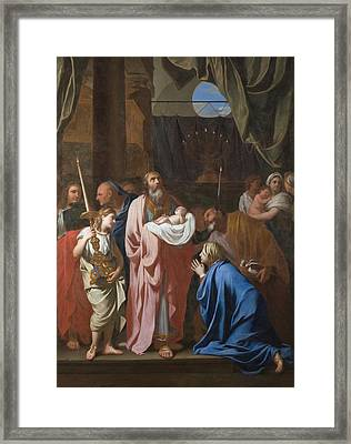 The Presentation Of Christ In The Temple Framed Print by Charles Le Brun