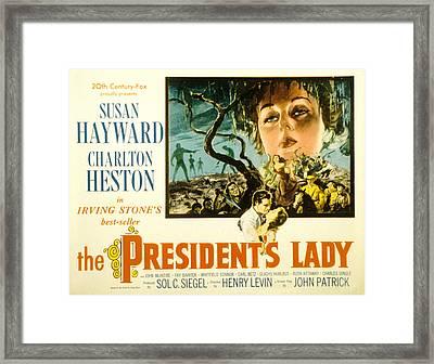 The Presidents Lady, Charlton Heston Framed Print by Everett