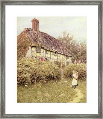 The Priest's House West Hoathly Framed Print by Helen Allingham