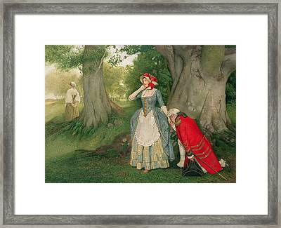 The Proposal Framed Print by Sir James Dromgole Linton