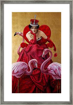 The Queen Of Hearts From Alice In Wonderland Framed Print by Jose Luis Munoz Luque