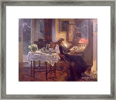 The Quiet Hour Framed Print by Albert Chevallier Tayler