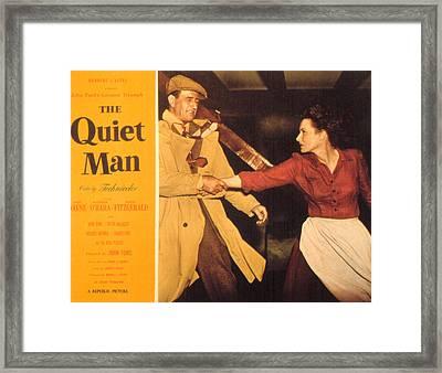 The Quiet Man, John Wayne, Maureen Framed Print by Everett