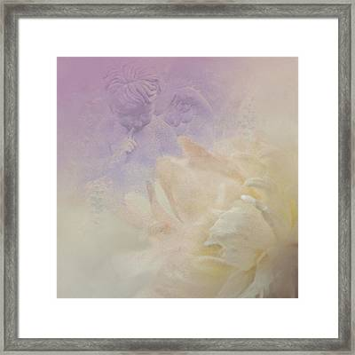 The Quiet Solitude Of The Garden Framed Print by Jeff Burgess