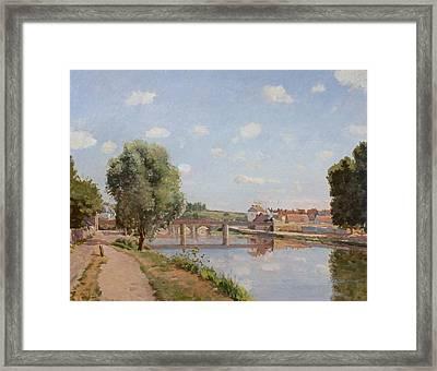 The Railway Bridge Framed Print by Camille Pissarro