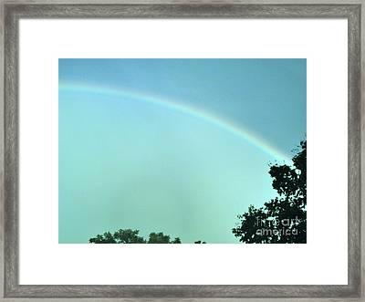 The Rainbow Is A Sign Framed Print by Marsha Heiken