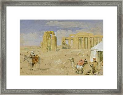 The Ramesseum At Thebes Framed Print by John Frederick Lewis