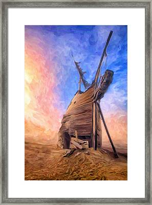 The Ravages Of Time Framed Print by Dominic Piperata